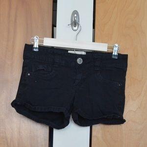 Black Rewind Bow Shorts